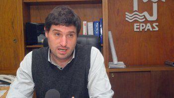 El presidente del EPAS, Mauro Millán, destacó las obras que se hicieron.