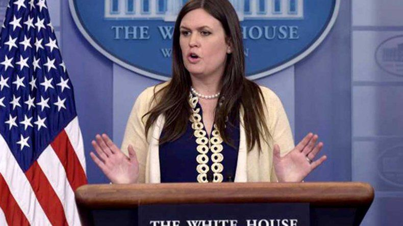 La portavoz de la Casa Blanca dijo: No declaramos la guerra a nadie.