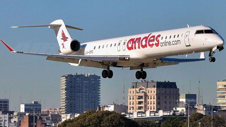 Andes inauguró la apertura del mercado aéreo que promovió el Gobierno.
