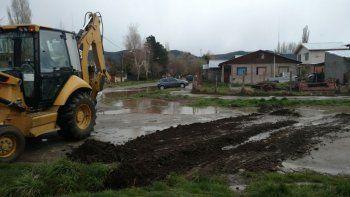 Las lluvias trajeron complicaciones en las calles en Junín de los Andes
