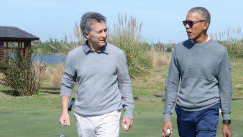 Obama y Macri jugaron al golf en un exclusivo club