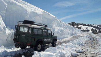 Otra vez cerraron el paso Pino Hachado por la nieve