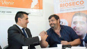 Ramón Rioseco con referentes de la corriente Reencuentro Peronista.