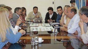 Marcelo Bermúdez, con empresarios gastronómicos.