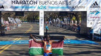 El keniata Kiptum ganó la maratón de Buenos Aires