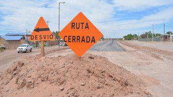 Vialidad comenzó con los trabajos de reconstrucción de la ruta.