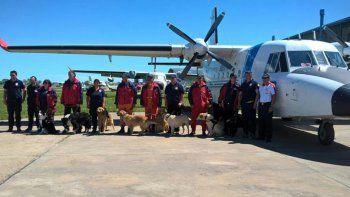 Cómo los bomberos dieron con el cuerpo en el río Chubut