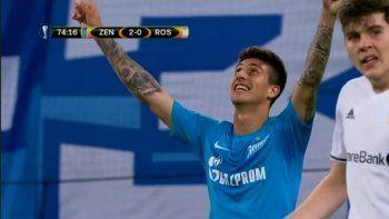 sello argentino para la victoria del zenit ruso en la liga europea