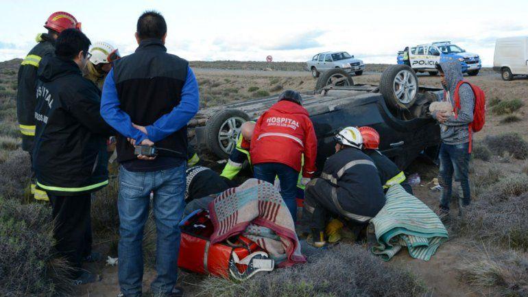 Una familia volcó en La Rinconada: 4 ocupantes quedaron internados