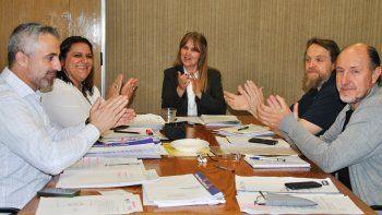 Autoridades del CPE junto a los representantes de ATEN.