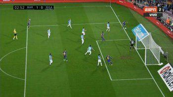 Barcelona ganó con un primer gol polémico y sigue puntero de la Liga