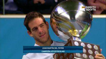 Del Potro se consagró campeón en Estocolmo