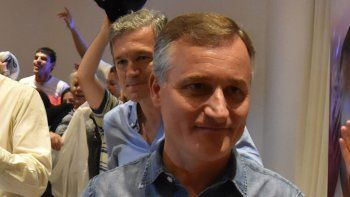 David Schlereth celebró en el Hotel del Comahue el triunfo de Cambiemos.