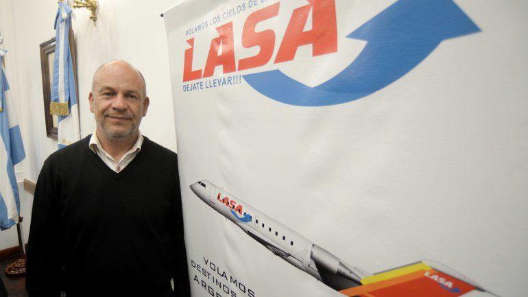 Juan Silenzi, representante de LASA, anunció las novedades para Neuquén.