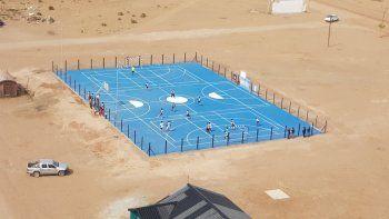 Un oasis en el desierto: Ramón Castro ya disfruta de un moderno playón polideportivo