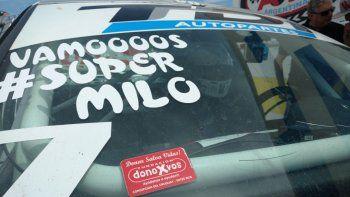 El Gatito Nimo también se sumó con su auto a la campaña por Milo.