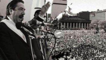 Un emotivo recuerdo por el regreso a la Democracia