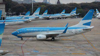 por el ultimo paro, aerolineas perdio 21 millones de dolares