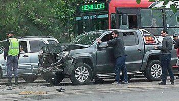 Dos lesionados por choque en cadena en la Ruta 22
