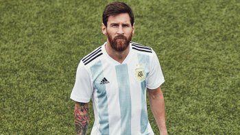 Messi con pilcha nueva: así será la camiseta que usará la Selección Argentina en Rusia 2018