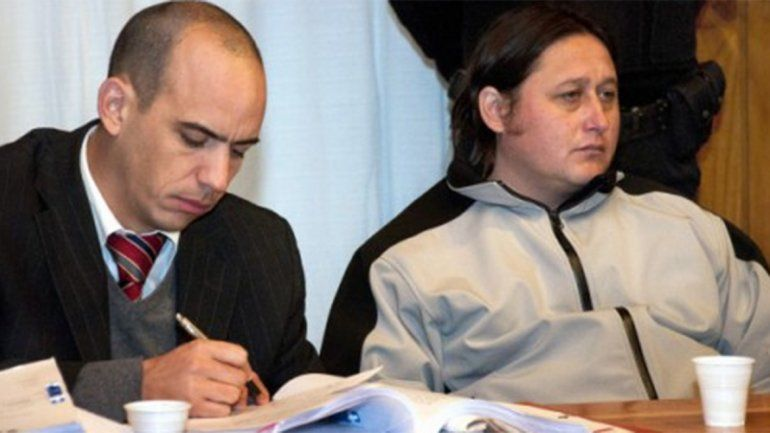 Neira al momento de ser juzgado por el crimen de Pedro Ávalos.