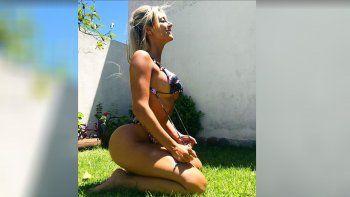 Mirá como Sol Pérez disfruta de una tarde de calor