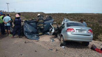 Tres hombres murieron en un choque frontal en la Ruta 70