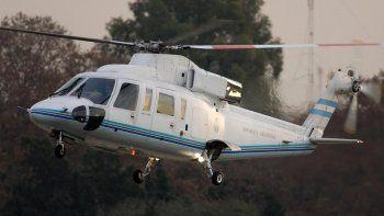 el helicoptero de macri aterrizo de emergencia
