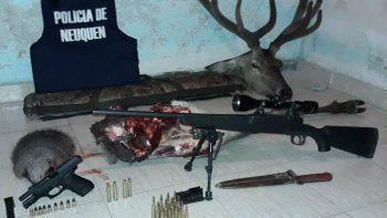 detuvieron a tres cazadores furtivos en las coloradas