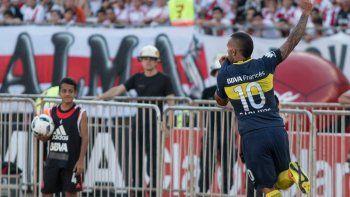 En la primera mitad del torneo de 30 equipos metió siete goles en 15 partidos para Boca.