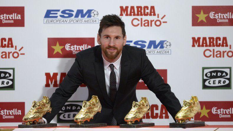 Lionel Messi recibió su cuarta Bota de Oro en España