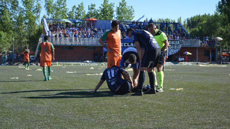 Ibáñez sintió un pinchazo e inmediatamente pidió el cambio.
