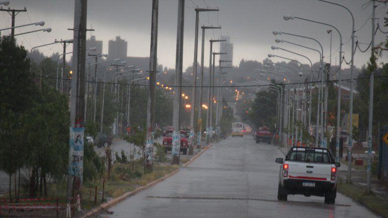 La lluvia se hizo sentir la ciudad