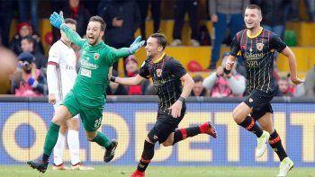 El Benevento logró su primer punto con gol agónico de su arquero