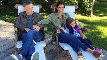 Macri junto a su esposa, Juliana, y a su hija Antonia en la Villa.