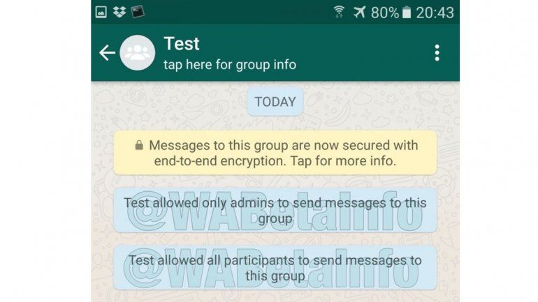 Preparan cambio radical en chats grupales — Whatsapp