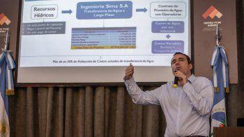 Líder. Diego Manfio es el vicepresidente ejecutivo de Ingeniería SIMA.