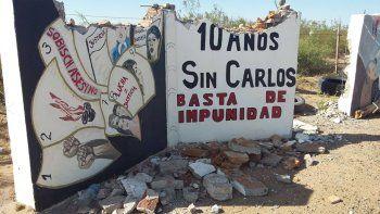 Destruyeron el monolito a Carlos Fuentealba en Arroyito
