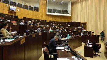 Los diputados provinciales, ayer, durante la sesión.