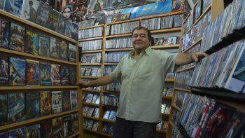 Aníbal Soria se llevará las películas al garage de su casa. Hasta allí tendrán que ir ahora sus clientes más fieles.