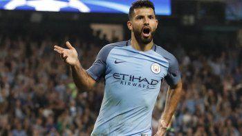 El City venció al Burnley con dos goles del Kun Agüero