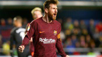 Messi convirtió para la victoria del Barcelona y alcanzó una nueva marca histórica.