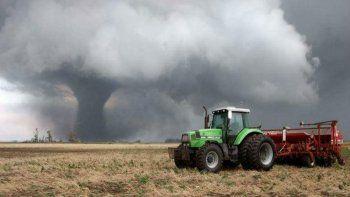 de pelicula: las imagenes de un tornado en tandil