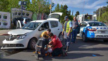 El accidente se produjo sobre las calles Leloir y Buenos Aires.