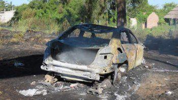 susto para passarella: se incendio el auto en el que viajaba