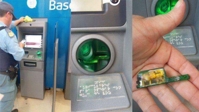 El dispositivo se encontró en uno de los cajeros de la sucursal de Juan B. Justo e Yrigoyen del banco Macro.
