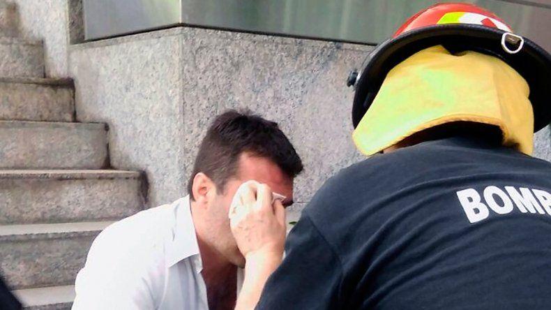 Previo a la sesión le tiraron gas pimienta a Darío Martínez