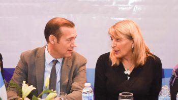 Chani Sapag y Omar Gutiérrez participaron de la reunión con funcionarios nacionales.