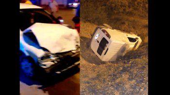 Madrugada accidentada en el Oeste y Ruta 7: hubo lesionados