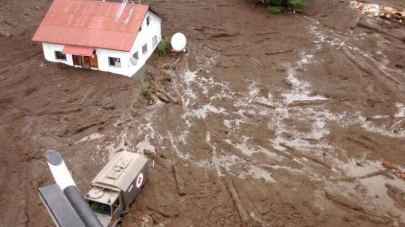 Un poblado fue arrasado por un aluvión en Chile